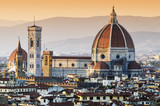 Cathedral of Santa Maria del Fiore Dome at dusk, Florence