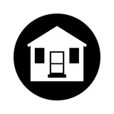 cute wooden house isolated icon vector illustration design