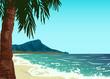 Waikiki beach of Oahu island