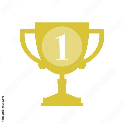 Foto op Canvas Gold Trophy Cup