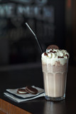 The milkshake with cookies