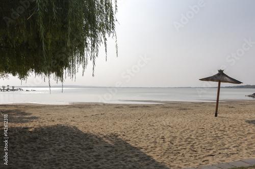 Beach on Lake Balaton. The town of Keszthely. Hungary. Poster