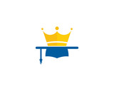King Education Icon Logo Design Element - 142627362