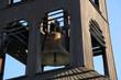 Dzwon na wieży w Gwoździanach, zbliżenie.