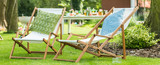 Two deck chairs - 142629913