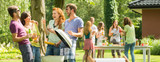 Meeting of friends at a barbecue - 142629943