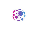 Globe Abstract Dot Icon Logo Design Element