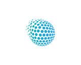Globe Dot Sphere Spark Icon Logo Design Element
