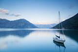 Sailboat in Kotor bay, Montenegro