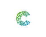 Letter C Dot Circle Icon Logo Design Element