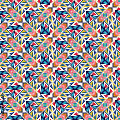 Materiał do szycia Abstrakcja bezszwowe wzór różnych elementów geometrycznych.