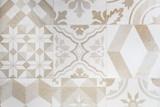 Beige Moroccan tiles, ornaments, mosaic floor texture - 142636907