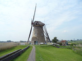 The Authentic Dutch Windmill at Kinderdijk Windmill Complex, South Holland, Netherlands