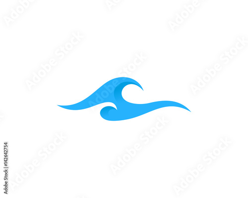 Wave Icon Logo Design Element