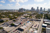 Aerial drone photo of Wynwood Walls Miami