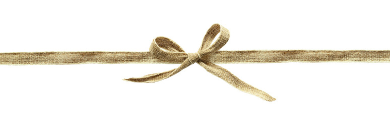 Beige canvas ribbon bow