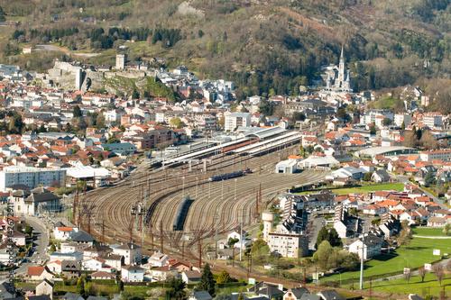 Ville de Lourdes, son Chateau Fort, sa Basilique, sa gare Poster