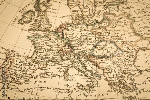 Fototapeta アンティークの古地図 ヨーロッパ