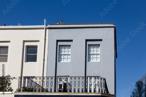 Modern facade on a sunny day Canvas Print