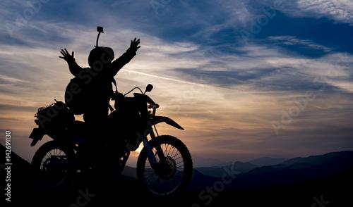 Sticker başarılı motosiklet gezisi