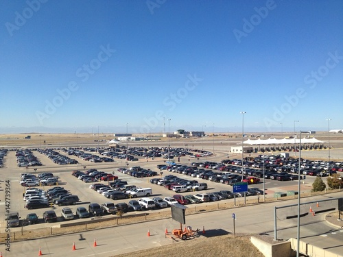 Car parking lot at Airport in Denver