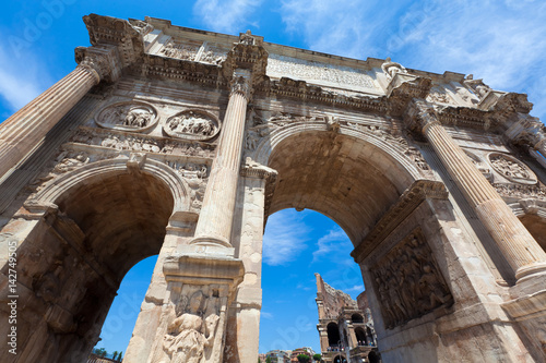 Poster Arch of Constantine near the Colosseum in Rome