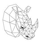 Geometric rhinoceros - 142750529