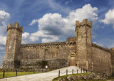 Medieval castle in Montalcino. Tuscany, Italy