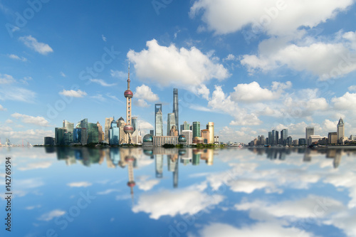 Foto op Canvas Shanghai China Shanghai Pudong, the city skyline plane