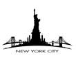 New York City skyline Statue of Liberty vector