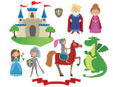 Fairy tale medieval characters