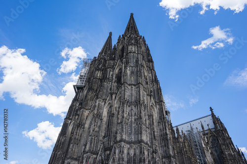 Close up view of Cologne Cathedral in Cologne, Germany Poster