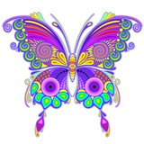 Butterfly Colorful Tattoo Style