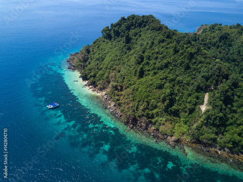 Poster Nyaung Oo Phee lsland with white sandy beach
