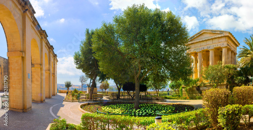 Malta Valletta Lower Barrakka Gardens Panorama Alexander Ball Temple Poster