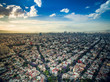 Aerial shot of Mexico City before sunset