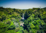 Waterfall in the tropic forrest in sunny day, Chiapas, Mexico - 142812386