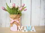 Muttertagsgrüße - Blumenstrauß mit Herz - Mama - 142816187
