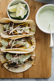 Carnitas Tacos with Cilantro Cream Sauce