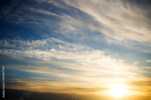 Sky background on sunrise.