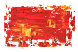 Red oil painting texture