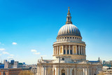 St. Paul's Cathedral in London on a bright sunny day