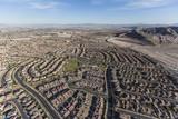 Aerial view of new suburban neighborhoods in Las Vegas, Nevada.