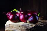 лук красный  для салата  на пне - 142854567