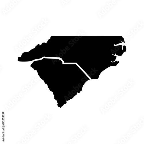 carolina map logo vector. - 142855397