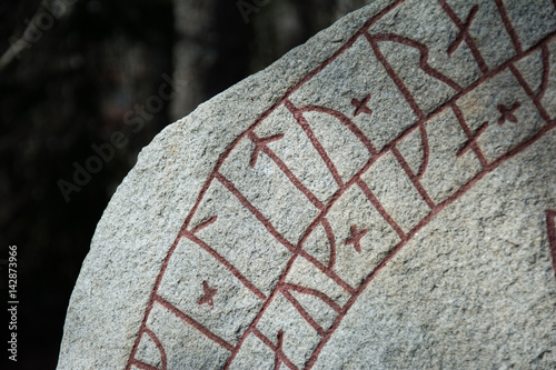 Rune stone close-up Poster