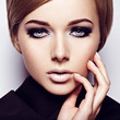 Beautiful woman with fashion makeup of eyes