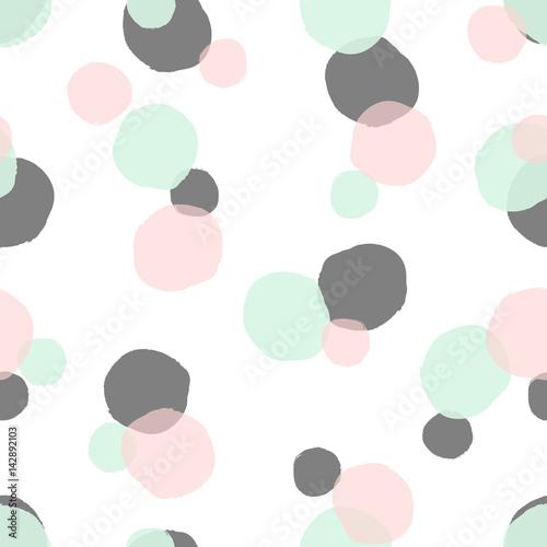 Cotton fabric Dots Seamless Pattern