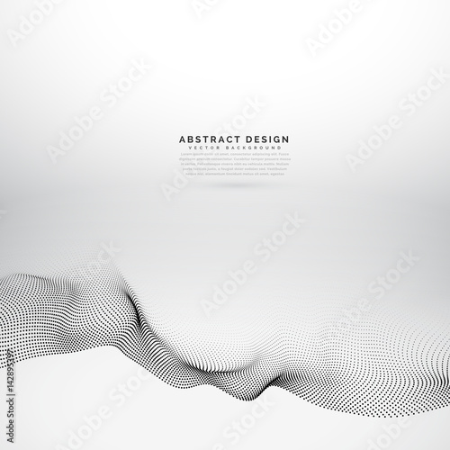 vector particles wave background