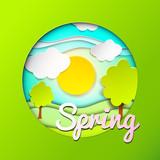 Spring paper background